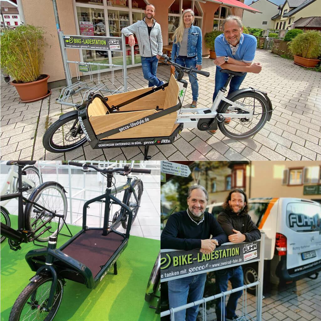 gecco Bühl liefert jetzt mit Lastenfahrrad nachhaltig aus